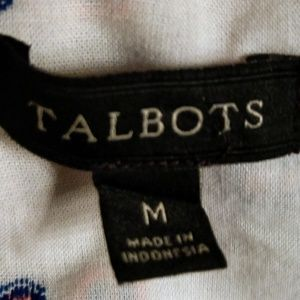 Talbots Tops - Talbot's White Cotton Long Sleeve Swiss Dot Size M